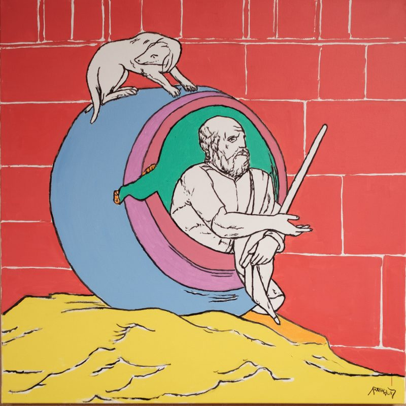 Diogenes im Fass